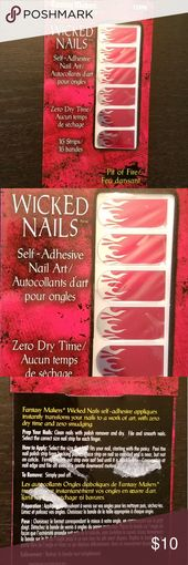 Pit of Hearth Nail Artwork Strips NWT Pink with silver flames. Depraved Nails from Fantas…