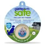 Pawsitively Safe Small Blue Lost Pet Finder Tag for Cats  – Products
