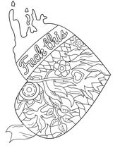 50 free printable swear coloring pages at swearstressawaycom personal favorite swear word coloring pages pinterest free printable 50th and adult - Free Printable Swear Word Coloring Pages