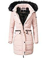 Navahoo Damen Winter Mantel Steppmantel Paula Vegan Hergestellt Rose Gr L Parka Mantel Mode