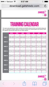 My shredz workout | Fitness | Pinterest | Workout, Exercises and ...