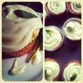 Citrus Basil Cupcakes. Mischen Sie eine Schachtel Lemon Supreme Tortenmischung nach …