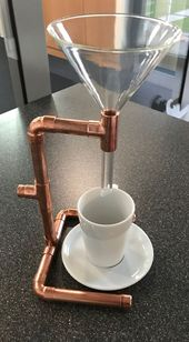 DIY coffee machine, simple but somehow beautiful.,. – #But #also #DIY #something #coffee …