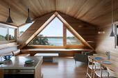 Ein Saltbox-Haus wird überarbeitet, um seine erhabene Bucht-Einstellung zu umfassen   – Modern Cabins