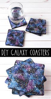 DIY Galaxy Coasters