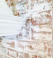 Aktualisieren eines gemauerten Kamins mit Kreidefarbe