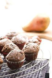 Mini-Birnen-Schoko Muffins