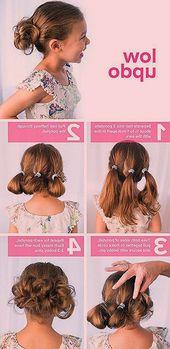 Kinderfrisur für Mädchen #kommunion #kommunionstyles #short haircut #undjungs