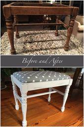 Trendy umfunktionierte Möbel vor und nach DIY-Stoffen 39+ Ideen – #nach #vor #diy #fa …
