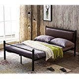 139 99 Greenforest Bed Frame Queen Size Pu Leather Classic