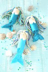 Wir feiern einen Meerjungfrauen-Geburtstag  #handmade #craft #crafts to sell #br…