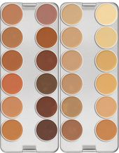 Kryolan Dermacolor Camouflage Creme Palette 24 Farben   – Makeup kit