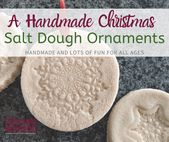 Homemade Christmas Tree Ornaments: Salt Dough