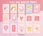 Free printables for baby girl nursery