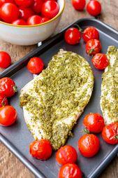 Pesto Hähnchen mit 3 Zutaten   – GESUNDE REZEPTE  | healthy food