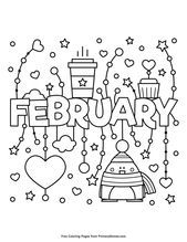 Terrific Photo Monthly Calendar Preschool Suggestions Valentine Coloring Pages Coloring For Kids Coloring Pages