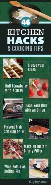 46 Coole Kochtipps und DIY-Küchenhelfer