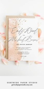 Pink Watercolor Marriage ceremony Invitation, Shabby Stylish Invitation, INSTANT DOWNLOAD, DIY Marriage ceremony Invitation – alle-einladung.tk   Einladung Ideen