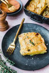 Das einfachste vegane Kartoffelgratin