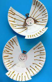 60 weihnachtliche Ideen zum Basteln mit Pappteller für Kleinkinder – Monika Jung