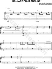 Print And Download Sheet Music For Ballade Pour Adeline By Richard