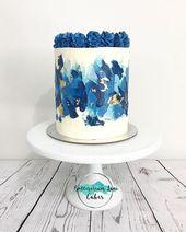 Blue Beauty 💙💙💙 Letzter Kuchen dieses Wochenendes. #Cake #Caked …   – Kuchendesign