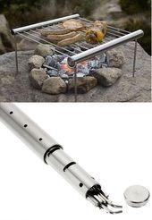 Ultra bärbar vikbar BBQ-grill för utomhusvandring Trekking Camping. Så kompakt …