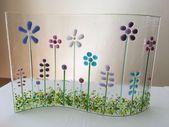 Geschmolzenes Glas wilde Blume Garten Sommer Wiese Sonne Licht Catcher freistehende Bild …   – Flower Garden