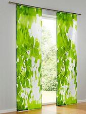 heine home – Schiebevorhang und Kissenhülle grün im Heine Online-Shop