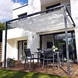 Tonnelle Adossee Blooma Clipperton 2 95 X 2 95 M Blanche Pergola Tonnelle Adossee Pergola Acier