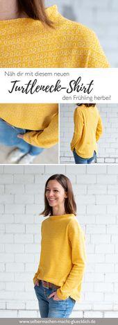 Ein lässiges Turtleneck Shirt einfach selber nähen! | Nähideen-Weblog