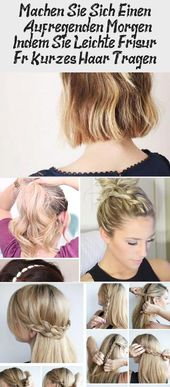 Make yourself one   Exciting morning by wearing light hairstyle for short hair