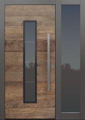 moderne TOPIC Haustür in Altholz Eiche mit Seitenwand B1   …- modernes THEMA …   – Garage Doors