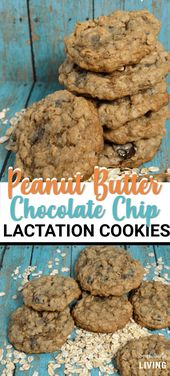 Homemade Peanut Butter Chocolate Chip Lactation Cookies #lactationcookies #lacta…