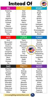 As an alternative of Large, Comfortable, Sensible, Good, Little, Humorous, Unhappy, Fairly, Good – English G…