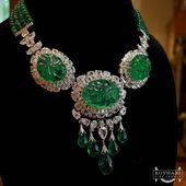 """KOTHARI FINE JEWELS on Instagram: """"Stones with a personality. Our beautiful and bold Old Mine Fluted Emerald & Diamond Necklace will make a striking statement everywhere you…"""""""