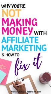 Geld verdienen mit Affiliate-Marketing zu bloggen ist nicht so einfach, wie es scheint. Yo …   – Affiliate Marketing
