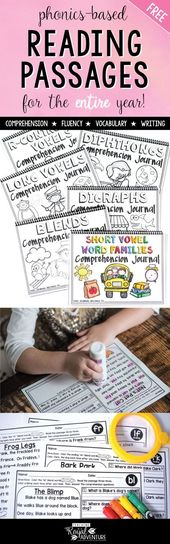 FREE Printable Phonics Reading Passages for the Whole Year