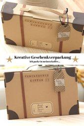 Kreative Geschenkverpackung basteln – ein Geburtstagskoffer geht auf die Reise -… – pepper