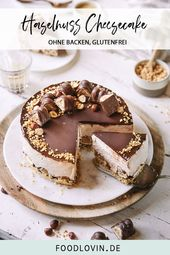 Hazelnut cheesecake without baking