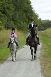 Mother Daughter horse ride. Mother and daughter on a trail ride with pony and ho , #AD, #horse, #Daughter, #Mother, #ride,