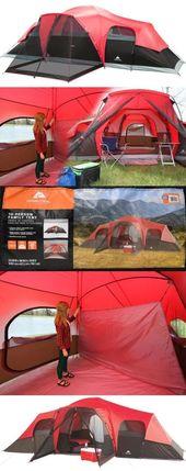 Tält 179010: Camping med stora tält utomhus Ozark Trail 3 rum 10 person vattentät …
