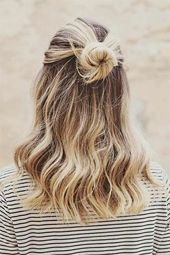 Cute and simple hairstyle for modern women #simple #women #hairstyle # for #modern #nice …