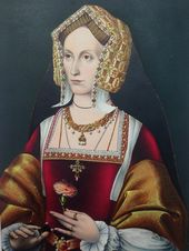 Watercolour of Engraving of a Doable Misplaced Portrait of Anne Boleyn