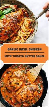 Garlic Basil Chicken With Tomato Butter Sauce – BEAUTIFUL KITCHEN