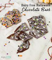 Kreieren Sie Ihre eigene lustige Halloween-Schokoladenrinde für einen allergiefreundlichen Genuss! Unser …