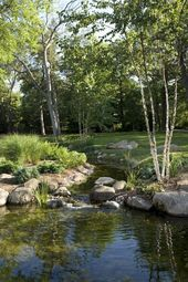 68 + Beautiful backyard ponds and water garden landscaping ideas