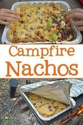 Camping food: Grilled Nachos Recipe – Made on a  campfire or over the grill