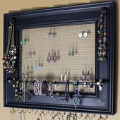 25 Jewelry organizer make your own craft ideas – organize jewelry