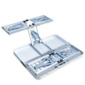 Aluminium Alloy Out of doors Tenting Picnic Desk Built-in Folding Desk and Chair